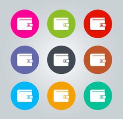 Wallet - Metro clear circular Icons