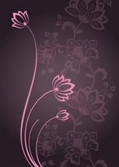 water lilies, wedding card design, India