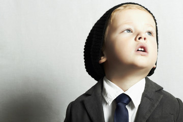 fashionable little boy in tie.style kid. fashion children