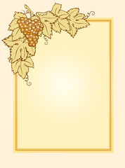 template for wine list with grape