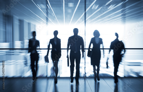 silhouettes of businesspeople - 55746932