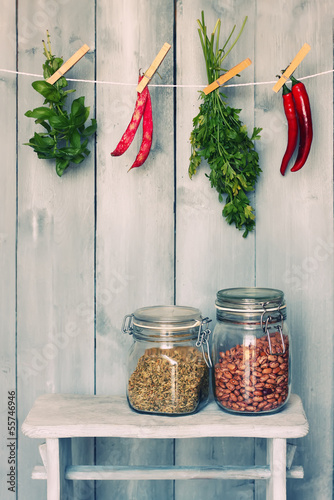 Pepper and parsley