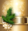 Christmas background elegant gold.