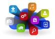 cloud apps icon - 3d concept
