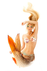 beautiful mermaid girl with fish tail, magic mythology being ori