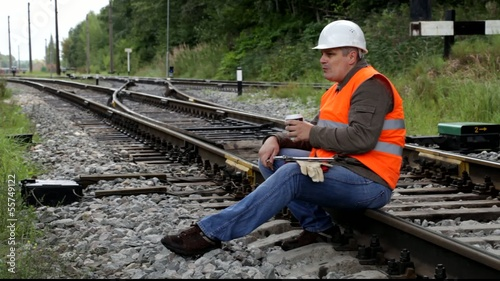 Worker with a coffee on the rail episode 2