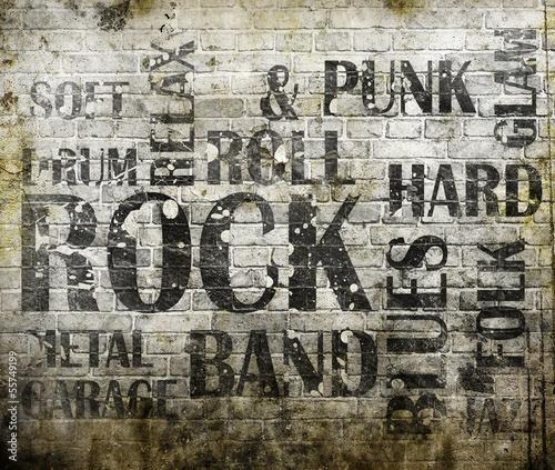 Grunge rock music poster © merydolla