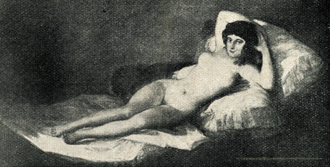 La maja desnuda by Francisco Goya