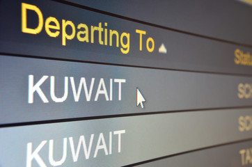 Flight departing to Kuwait