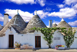 unique Alberobello - trulli village, Italy