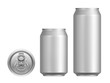 canvas print picture - Cans of beer or other drinks on a white background