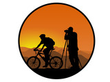 biker and photographer