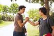 Student handshake