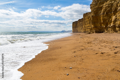 Burton Bradstock Beach Dorset Poster