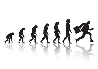 Evolution Running businessman
