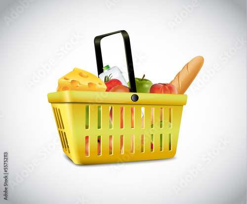 Plastic Basket With Food