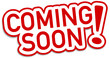 Coming Soon Sticker rot  #130901-svg07
