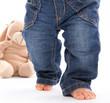 Erste Schritte - Jeans - Kind lernt gehen