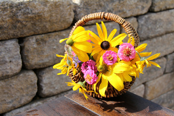 Sommerblumenkörbchen