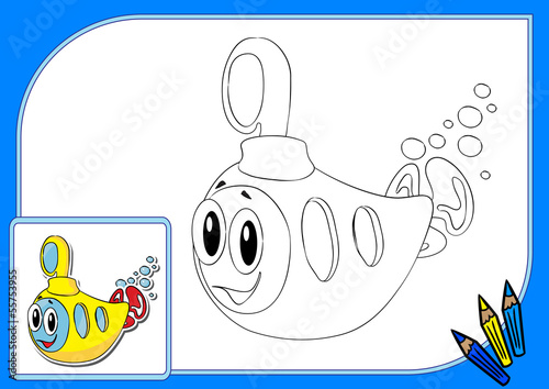 Coloring book yellow submarine