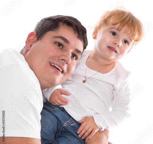 Vater und Tochter - Familie isoliert