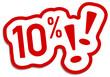 10% Prozent Rabatt Button rot  #130901-svg09