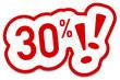 30% Prozent Rabatt Button rot  #130901-svg13