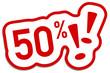 50% Prozent Rabatt Button rot  #130901-svg15