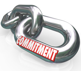 Commitment Word Chain Links Promise Loyalty