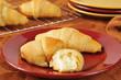 Fresh baked buttered croissant