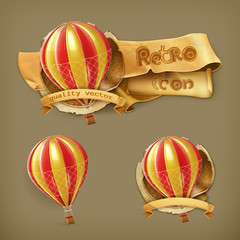 Air balloon icon set
