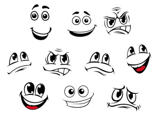 Cartoon faces set