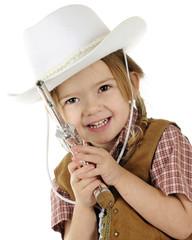 Shootin' Cowgirl Closeup