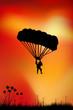 Skydiver on sky background - 55757310