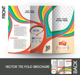 Fototapety Kid's School Tri-Fold Brochure Design