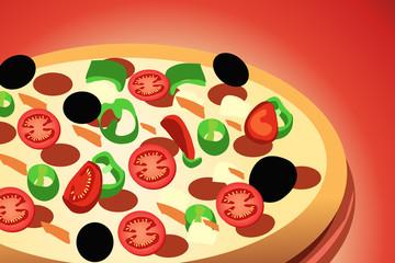 Pizza Pepperoni, italian kitchen
