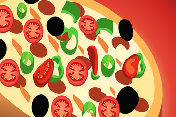 Pizza Pepperoni, italian kitchen