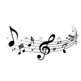 Musical notes design, vector illustration