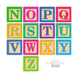 Wooden alphabet blocks - 55758751