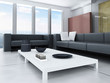 Living room interior with ultra modern wall design