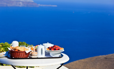 delicious breakfast by the sea