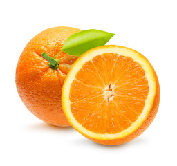 Orange fruit isolated on white background.