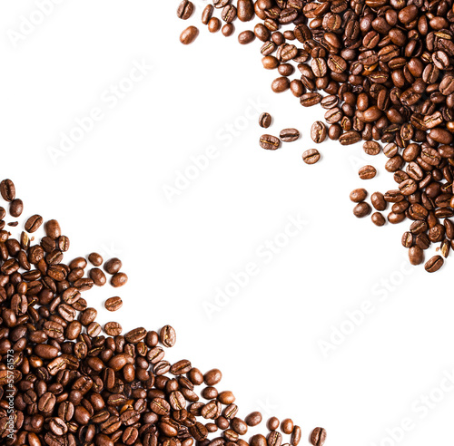 Coffee beans  background or texture closeup. Coffee concept.