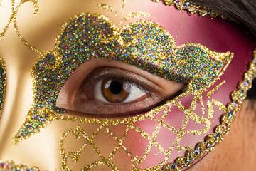 woman with venetian mask
