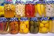 Pickled Vegetables And Fruit In Jars