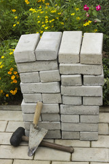 Paving stones in a pile