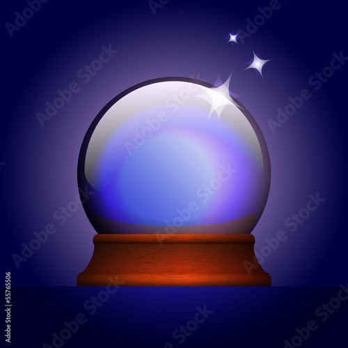 Vector illustration of magic ball