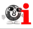 8 ball with information symbol