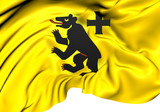Flag of Andermatt, Switzerland.