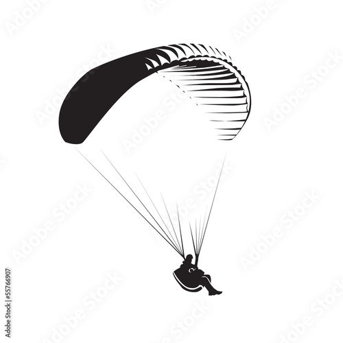 Paragliding theme, parachute controlled by a person